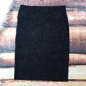 NWOT Black Lularoe Cassie Skirt Floral
